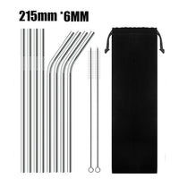 Drinking Straw 4 pieces High Quality Stainless Steel Metal for REUSE gadgets . Model: BA010
