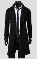 Jacket Trench Men's Coat Brand Clothing Long Coat Top Quality