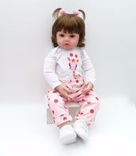 "Babys doll girl adorable (silicone) Lifelike real baby. 19"" Newborn HandMade - Model 1771"