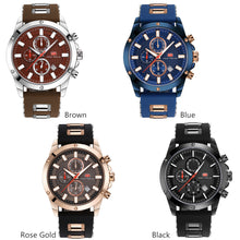 Chronograph Men Watch Sport Quartz  Silicone Strap Military  Model : MF0089G