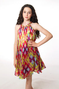 New Harlequin pleated dress