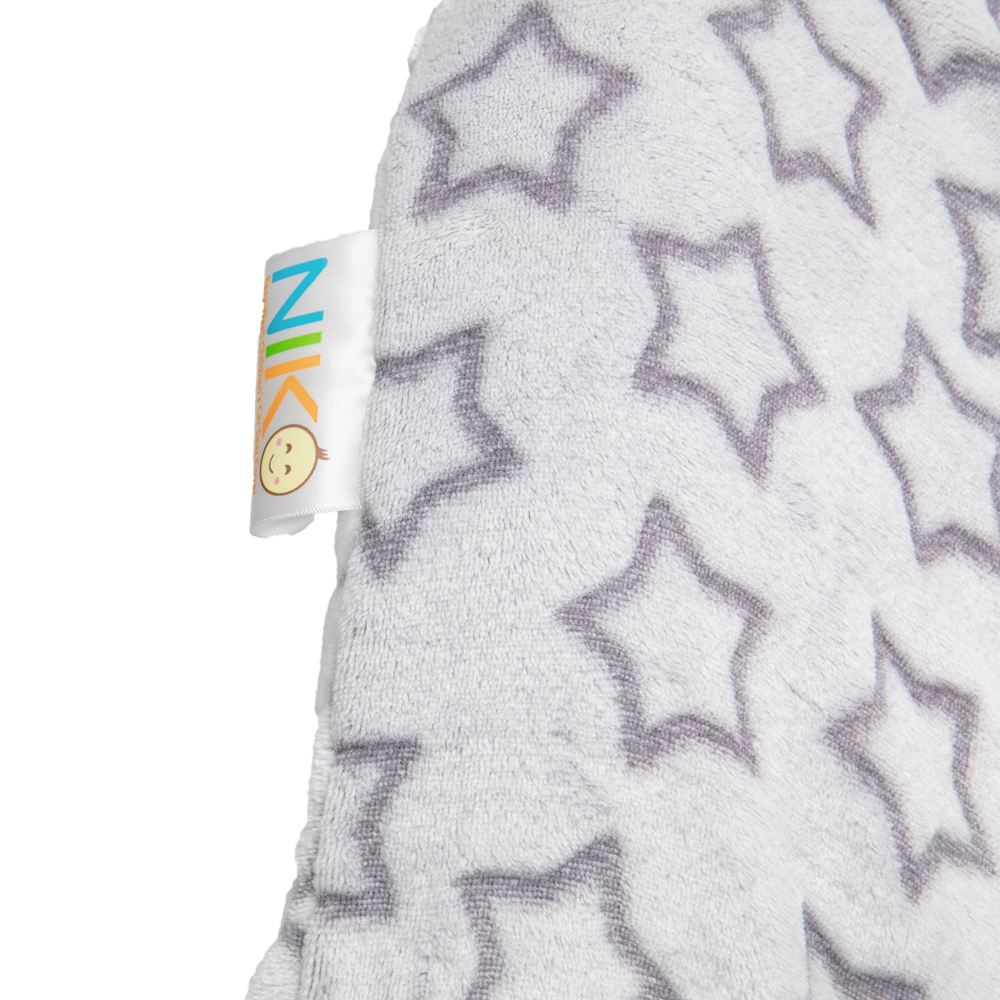 Niko Easy Wash Children's Car Seat Cover & Liner - Minky Silver Star