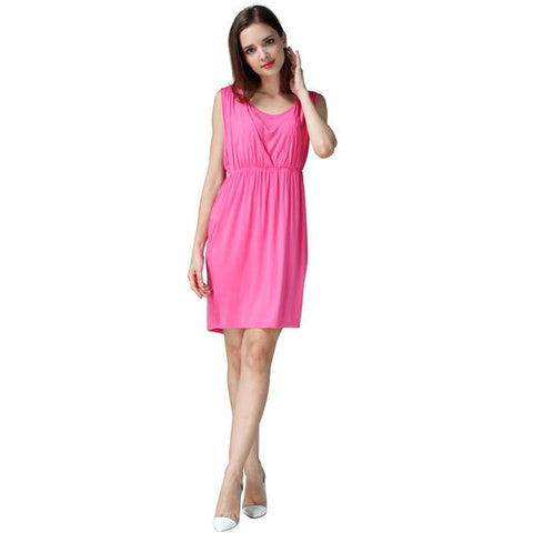 Elegant V-Neck nursing dress