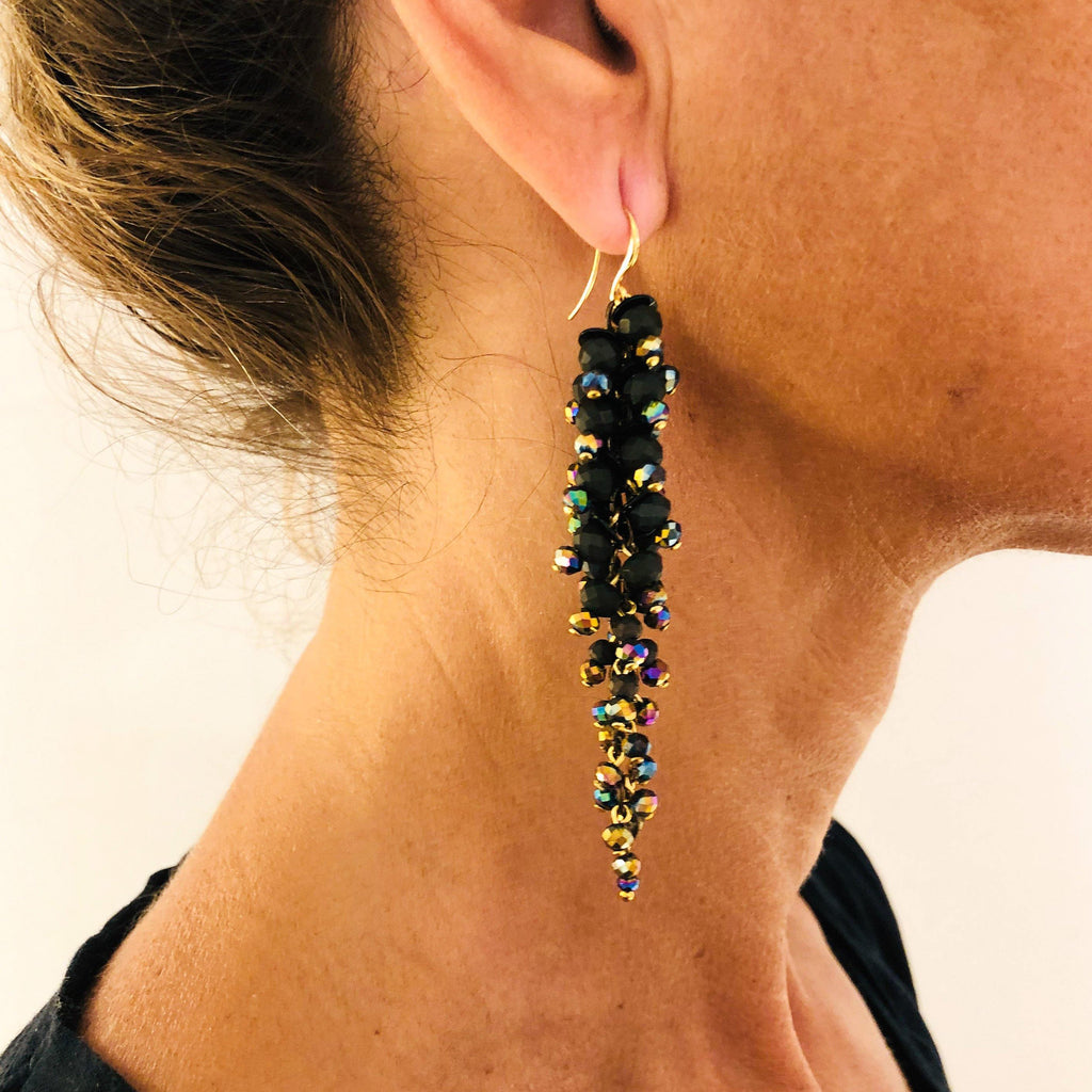 Saba Earrings black/multicoloured - MIMI SCHOLER