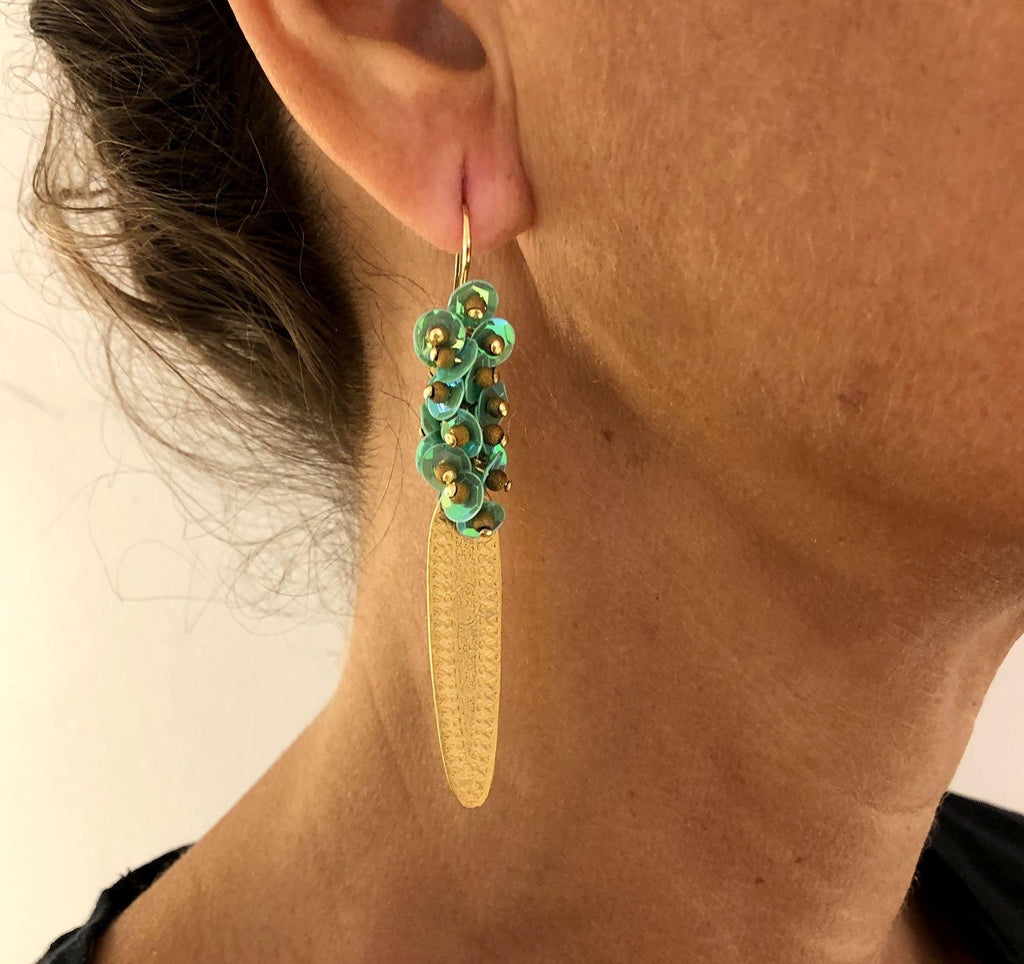 Azore Earrings green - MIMI SCHOLER