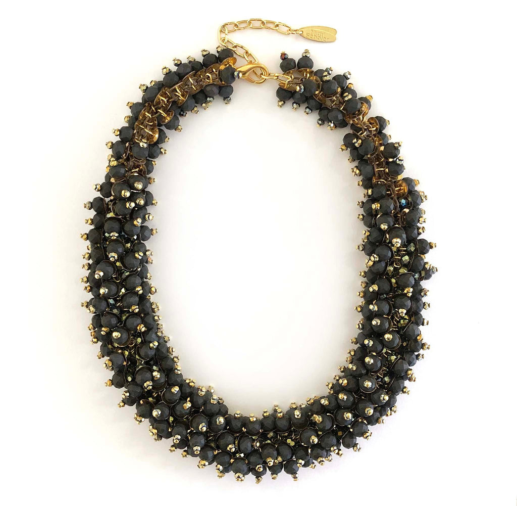 Big Azore Necklace frosted black/gold - MIMI SCHOLER
