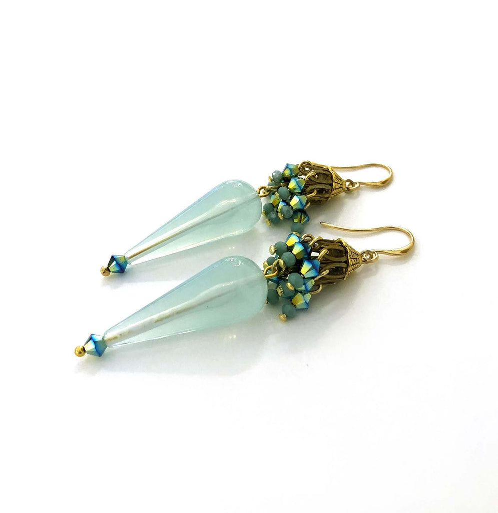 Doha Earrings turquoise - MIMI SCHOLER