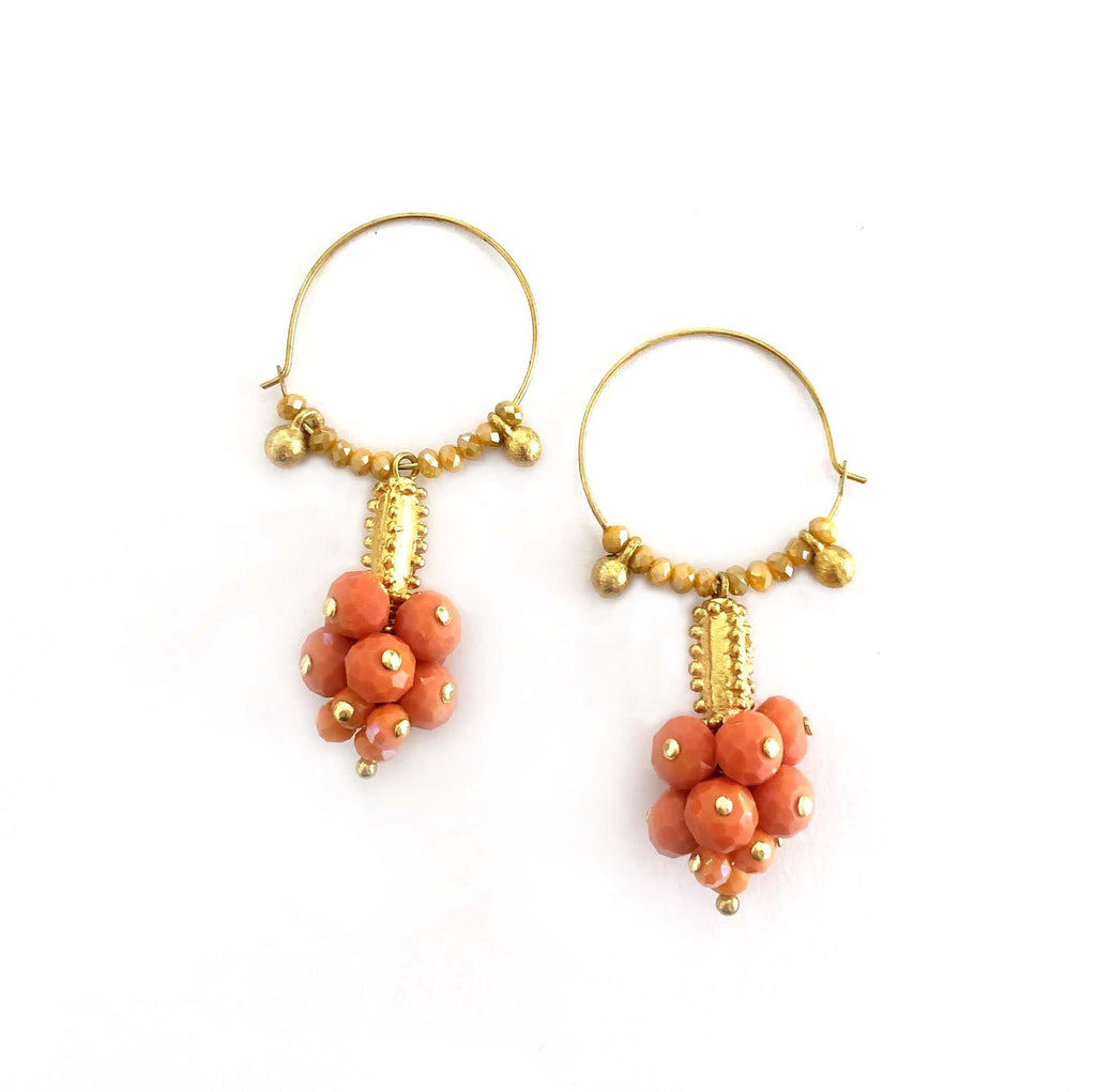 Eufrat Hoops coral/orange - MIMI SCHOLER
