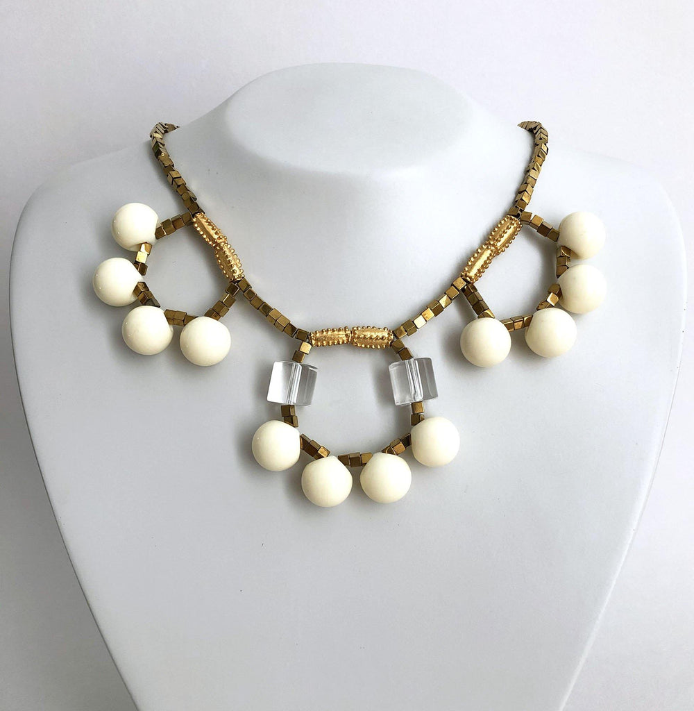 Flamenco Necklace white - MIMI SCHOLER