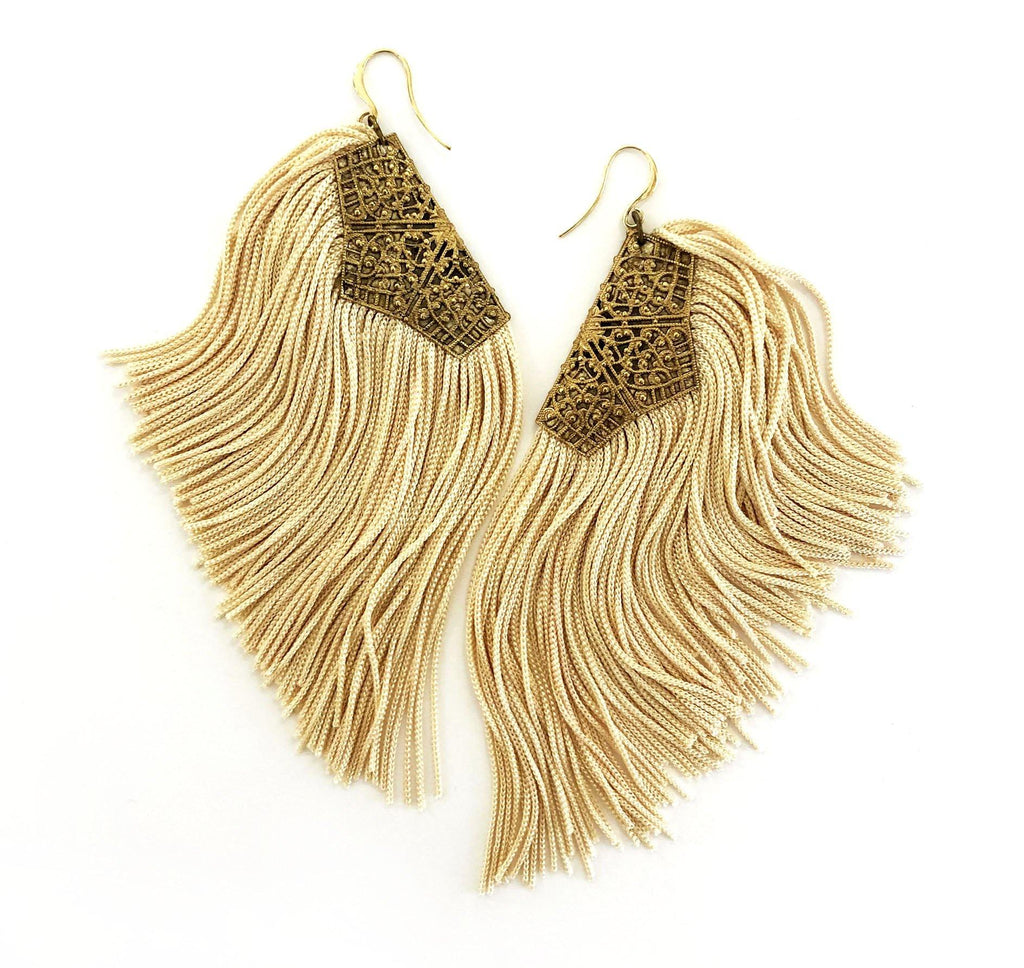 Fringe Earrings off-white - MIMI SCHOLER