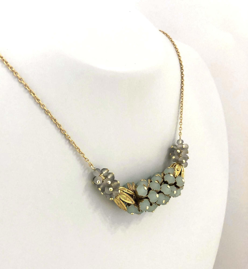 Mil Flores Necklace green/grey - MIMI SCHOLER