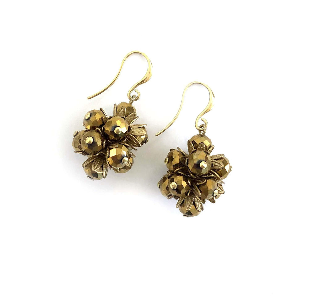 Round Mil Flores Earrings gold - MIMI SCHOLER