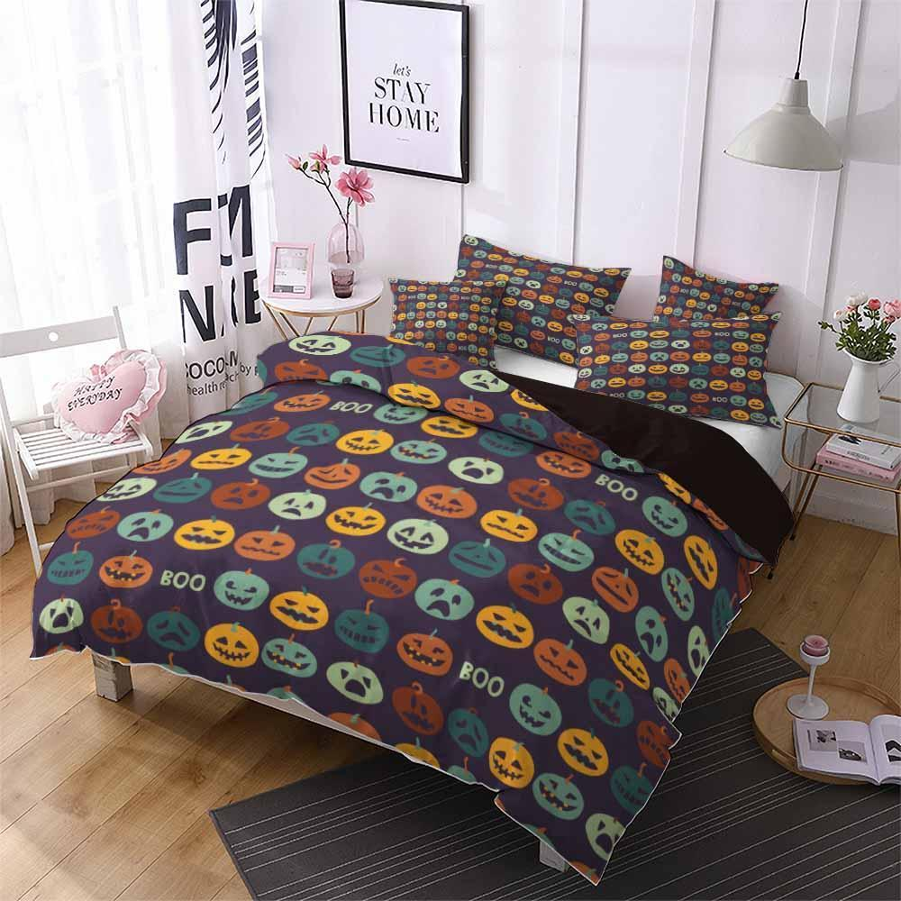 2019 Home Decor Design Bedding Halloween Theme Halloween Print Set Bed Cover-Kitkae-Kitkae-Koalabedding (2247800881203)