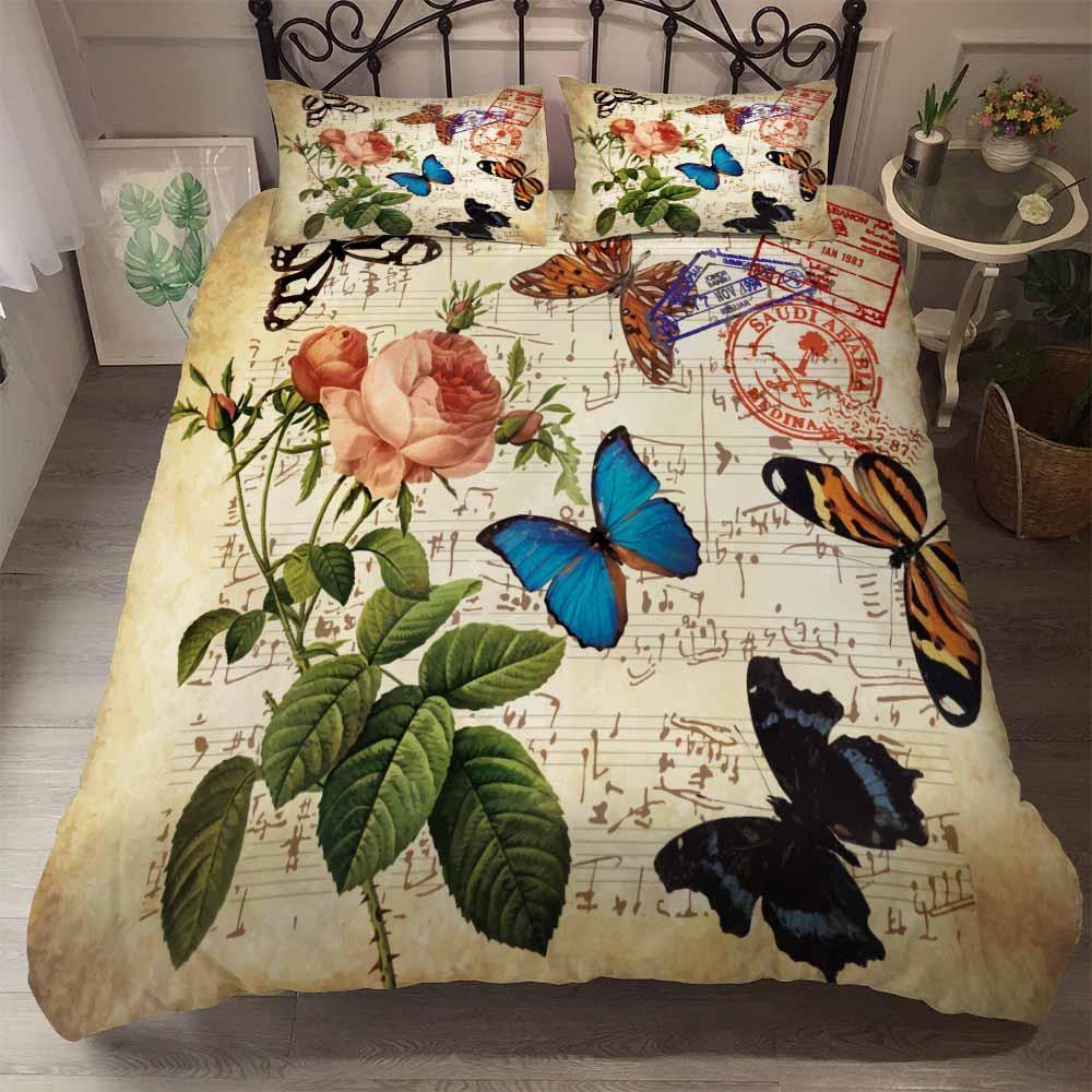 2019 New Design Butterfly Theme Bedding Sets Comforter Bohe (2252668993587)