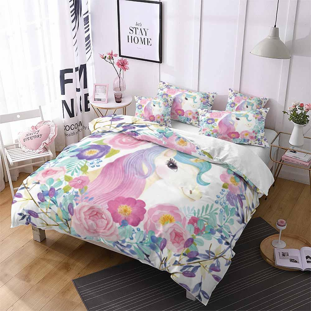 2019 New Design Unicorn Theme Bedding Sets Comforter Bedding Sets (2252240420915)