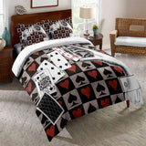 2020 Poker Spade King Print Bedding Set Black Duvet Cover Sets For kids-Kitkae-Kitkae-Koalabedding (4578391359624)