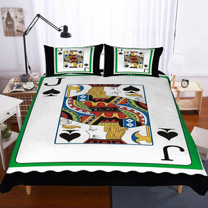 3 Pcs Bedding Set 3d Poker Playing Cards Jack Spade Club J Art Print All Size Art Print Bed Set-Mr Koala (1413778997299)