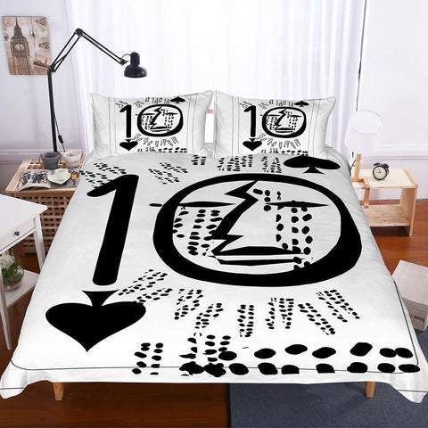 3 Pcs Bedding Set 3d Spades Playing Cards Poker Art Print All Size Art Print Bed Set-Mr Koala