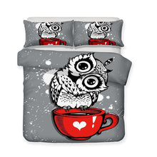 3 Pcs Kids Bedding Set 3d Night Owl Art Print All Size Duvet Cover Art Print Bed Set-Mr Koala (1417212330035)