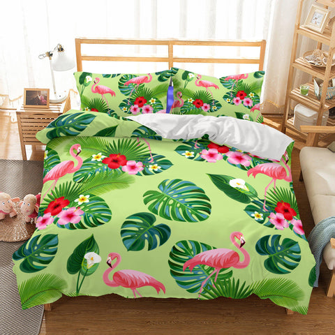 3D Animal Flamingo Bedding Sets Duvet Cover Sets Bed Quilt Christmas Bedding-Mr Koala