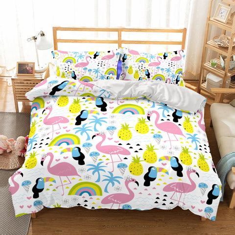 3D Animal FlamingoBedding Sets Duvet Cover Set Bedding Bedroom Bed Quilt Christmas-Mr Koala