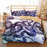 3D Animal Octopus Bedding Sets Duvet Cover Set  Bedroom Christmas Bedding Set