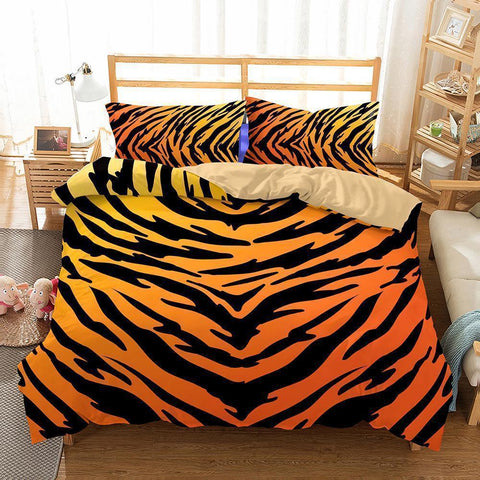 3D Animal Tiger Bedding Duvet Cover Set Comforter Cover Bedroom Pillows-Mr Koala