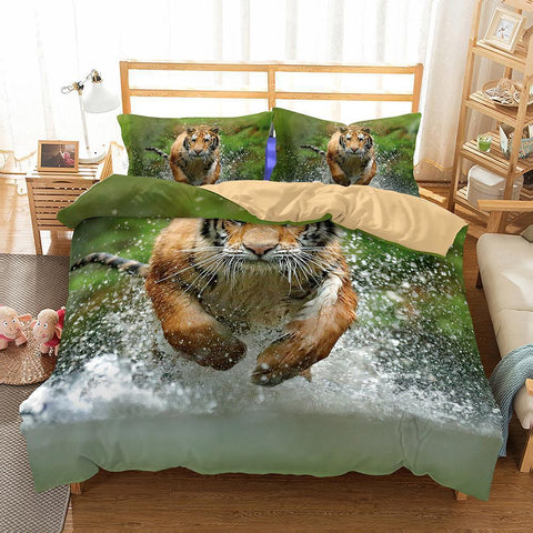 3D Animal Tiger Printed Bedding Sets Duvet Cover Set Comforter Queen 3d Bed Sheet-Mr Koala