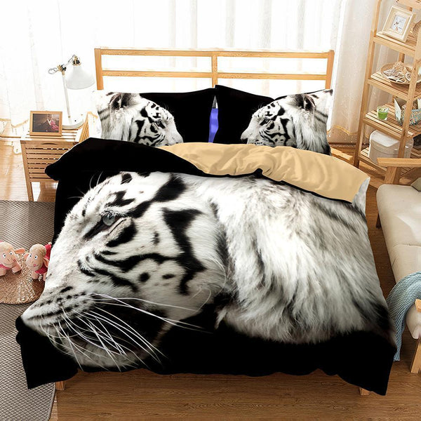 3D Animal Tiger Printed Bedroom Pillows Bedding Queen 3d Bed Sheets-Mr Koala