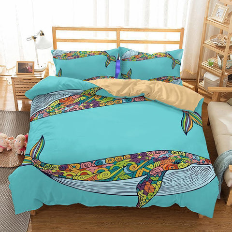 3D Animal Whale Bedding Sets Duvet Cover Setcomforter Cover Pillowcase Twin Size-Mr Koala