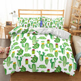 3D Art Pattern Green Cactus Printed Bedding Duvet Cover Sets-Kitkae-Kitkae-Koalabedding (434592415781)