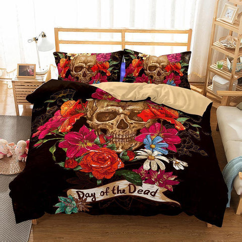3D Art Pattern Skull Bedding Sets Duvet Cover Set-Mr Koala