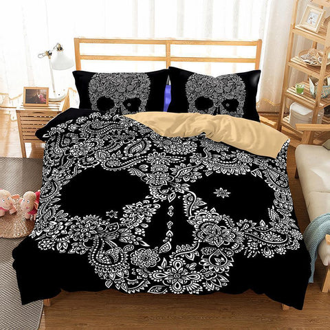 3D Art Pattern Skull Printed 15 Bedding Sets Duvet Cover Set-Mr Koala