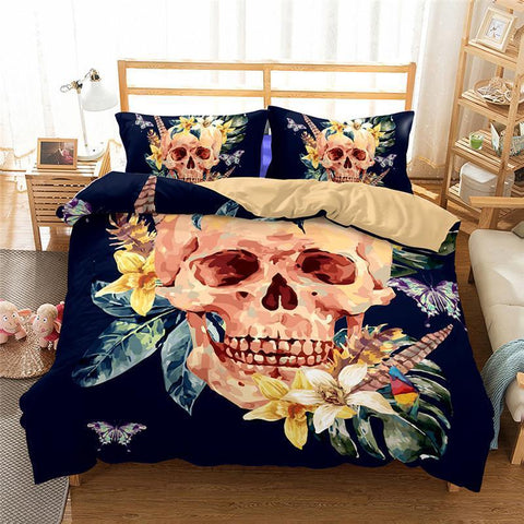 3D Art Pattern Skull Printed 20 Bedding Sets Duvet Cover Set-Mr Koala