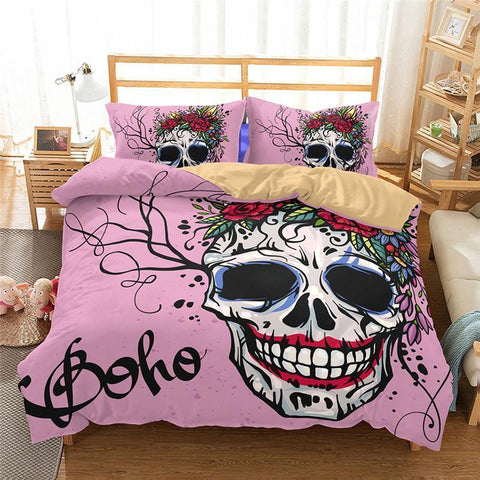 3D Art Pattern Skull Printed 21 Bedding Sets/duvet cover set-Mr Koala