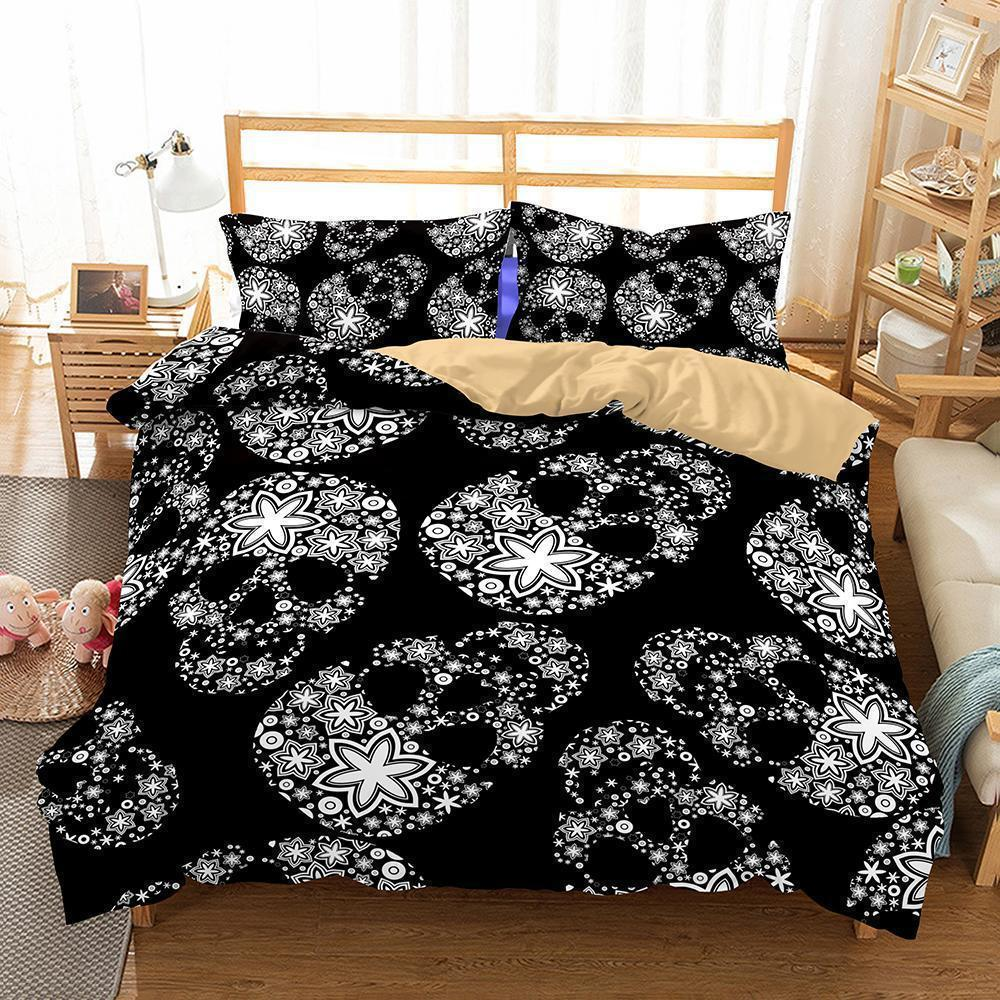 3D Art Pattern Skull Printed 3 Bedding Sets Duvet Cover Set-Kitkae-Kitkae-Koalabedding (462092959781)