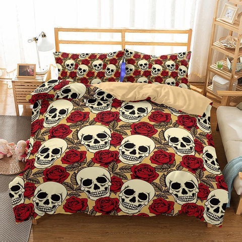 3D Art Pattern Skull Printed 8 Bedding Sets Duvet Cover Set-Mr Koala