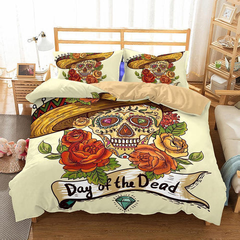 3D Art Pattern Skull Printed 11 Bedding Set duvet Cover-Mr Koala