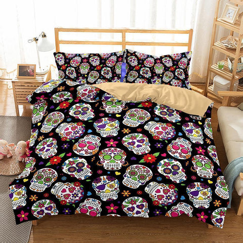 3D Art Pattern Skull Printed Bedding Sets Duvet Cover Set-Mr Koala