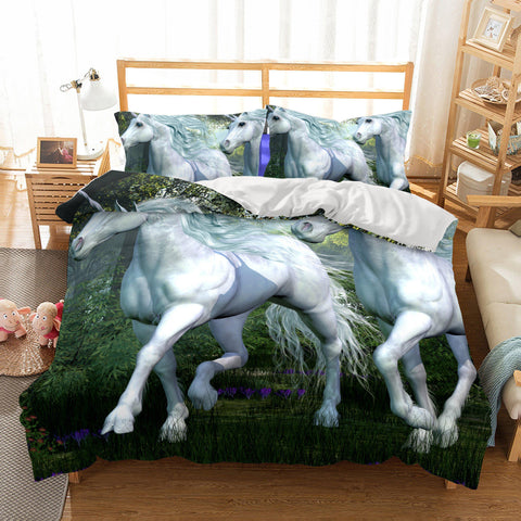 3D Bedding Animal Unicorn Printed Bedding Sets Duvet Cover Set-Mr Koala