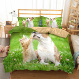 3D Design Animals Dogs Cats Pattern Queen King Size 3pcs Bedding Sets Dog Quilt Pillow Coverlets Sets-Mr Koala