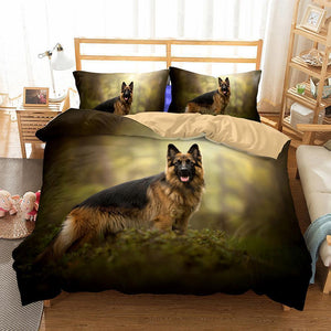 3D Design Dogs Pattern Queen King Size 3pcs Bedding Sets Dog Quilt Pillow Coverlets Sets-Mr Koala (671527174195)