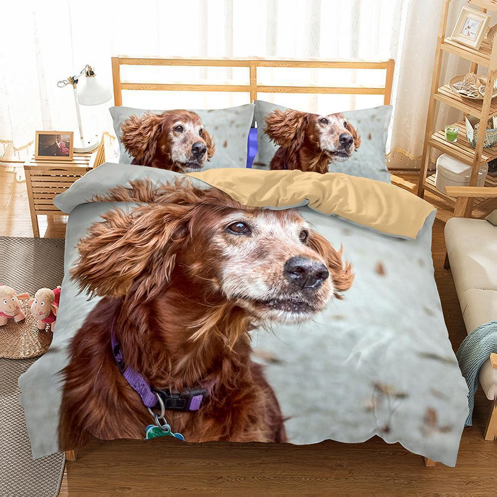 3D Design Dogs Pattern Queen King Size 3Pcs Bedding Sets Quilt Pillow Coverlets Sets Animals-Kitkae-Kitkae-Koalabedding (671527272499)