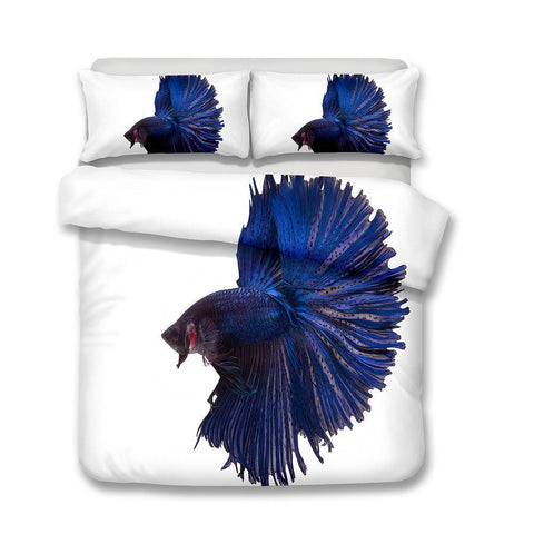 3D Design Fish Pattern Queen King Size Bedding Sets Quilt Pillow Coverlets Sets Underwater World Fish-Mr Koala