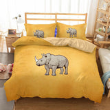 3D Design rhinoceros Pattern Queen King Size 3pcs Bedding Sets Quilt Pillow Coverlets Sets rhinoceros animals-Mr Koala