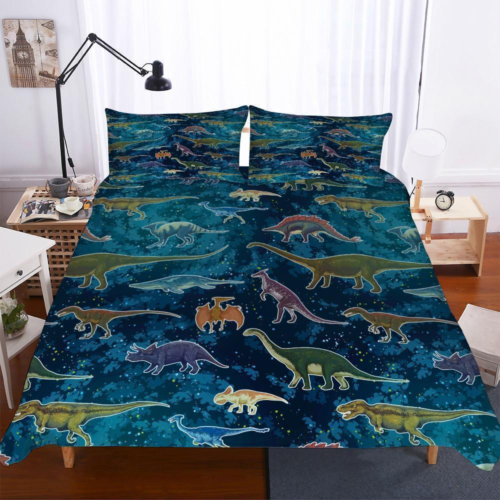 3D Digital Printing Lost World Jurassic Park A Variety Of Dinosaur Patterns Of Various Sizes 3 Pieces Of Bedding-Kitkae-Kitkae-Koalabedding (1477234556979)