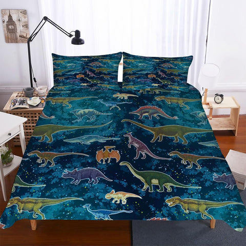 3D Digital Printing Lost World Jurassic Park A Variety of Dinosaur Patterns of Various Sizes 3 Pieces of Bedding-Mr Koala