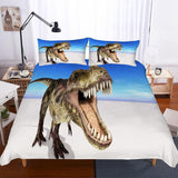 3D Digital Printing Lost World Jurassic Park Dinosaur Pattern Various Sizes 3 Pieces Bedding Blue-Mr Koala