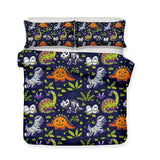 3D Halloween Ghost Pattern Digital Print 3 Piece Bedding Multiple Sizes-Mr Koala