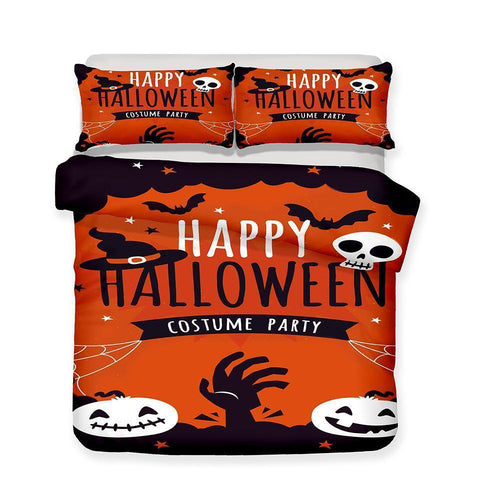3D Halloween Pumpkin Light Ghost 3 Piece Pattern Print Bedding Multi Size Selection Full Size-Mr Koala (1423897788467)